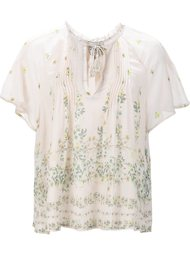 floral print sheer blouse Sea