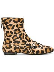 ботинки по щиколотку с леопардовым принтом  Nº21
