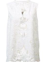 macrame embroidered blouse Sea
