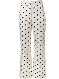 широкие брюки в горошек  Maryam Nassir Zadeh