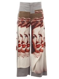 photo print palazzo pants Undercover