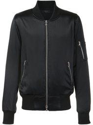 zip sleeve bomber jacket Amiri