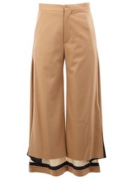 contrast hem high waisted trousers Undercover
