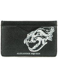 кошелек для карт с львиным черепом Alexander McQueen