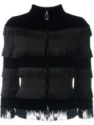 укороченная куртка с бахромой и бархатом Giorgio Armani