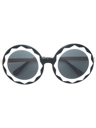 round oversized shaped sunglasses Linda Farrow Gallery