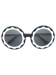 round oversized shaped sunglasses Linda Farrow Gallery