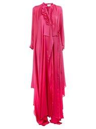 ruffle neck wrap dress Maison Rabih Kayrouz