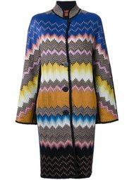 intarsia knitted coat Missoni
