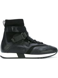 strap laced hi-top sneakers Versace