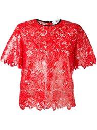 кружевная блузка с коротким рукавом MSGM