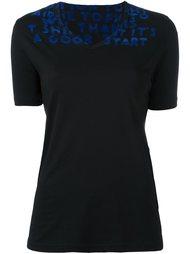 футболка c V-образным вырезом   Mm6 Maison Margiela