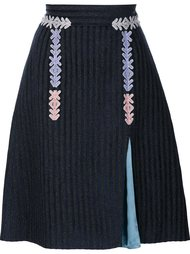 velvet striped skirt Peter Pilotto