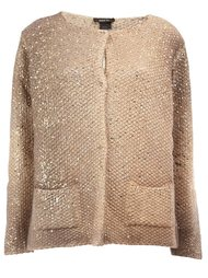 metallic effect cardigan Avant Toi