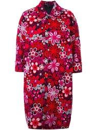 пальто с цветочным принтом Comme Des Garçons