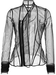 sheer fitted jacket Rick Owens Lilies
