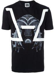 mask print T-shirt Les Hommes