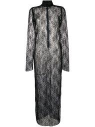 кружевное платье с воротником-воронкой Strateas Carlucci
