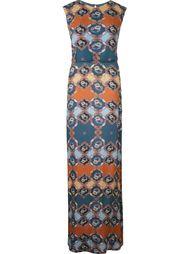 длинное платье с абстрактным принтом Emannuelle Junqueira