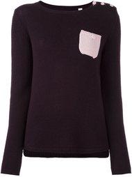 свитер с контрастным карманом  Chinti And Parker