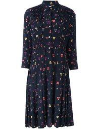 плиссированное платье с рисунком Chinti And Parker
