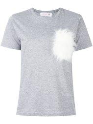 футболка с меховой отделкой Comme Des Garçons Girl
