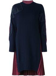 платье с панельным дизайном  Sacai
