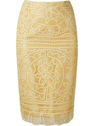 кружевная юбка-карандаш 'renascença' Martha Medeiros