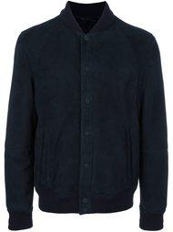 замшевая куртка бомбер Giorgio Armani