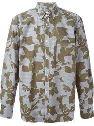 рубашка с камуфляжным принтом Golden Goose Deluxe Brand