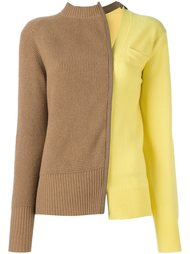 двухцветный свитер  Sacai