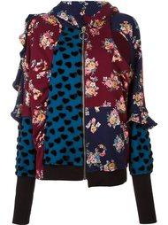 'Mash Up' zipped hoodie Nicopanda