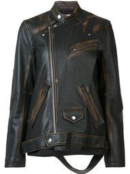 oversized leather jacket  Miharayasuhiro
