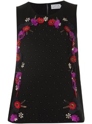 flower applique top Tanya Taylor