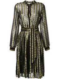 mosaic belted shirt dress Dodo Bar Or