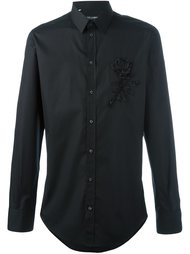рубашка с аппликацией розы Dolce & Gabbana