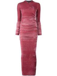 длинное бархатное платье Incarnation