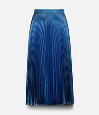 плиссированная юбка с люрексом Christopher Kane