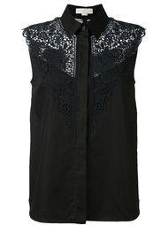 рубашка без рукавов с кружевными вставками Stella McCartney