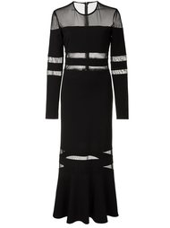 ruffle hem striped dress Nicole Miller