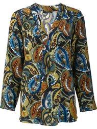 paisley print blouse Lafayette 148