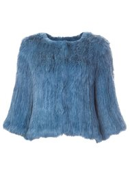 furry cropped jacket Meteo By Yves Salomon