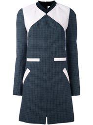 твидовое платье шифт дизайна колор-блок Courrèges