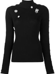 embellished ribbed jumper Preen By Thornton Bregazzi