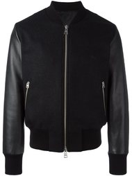куртка-бомбер с контрастными рукавами Ami Alexandre Mattiussi