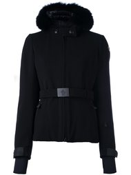 belted hooded jacket Moncler Grenoble