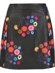 floral print mini skirt Tanya Taylor