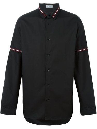 рубашка с воротником в полоску Dior Homme