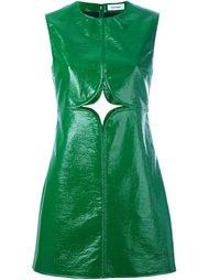 платье шифт с вырезной деталью Courrèges