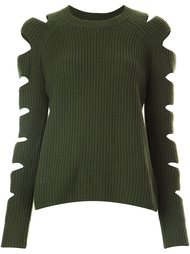cut-out sleeve ribbed jumper Zoe Jordan
